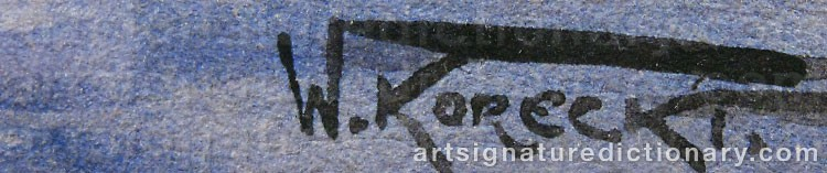 Signature by Wiktor KORECKI
