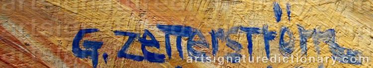 Signature by Gunnar ZETTERSTRÖM