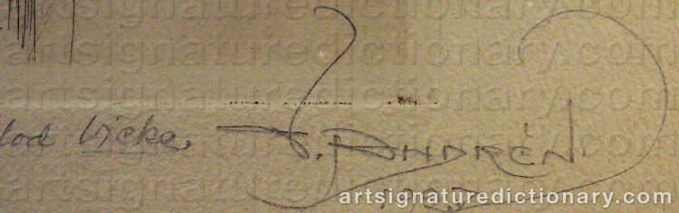 Signature by Victor 'Vicke' ANDRÉN