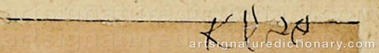 Signature by Paul KLEE