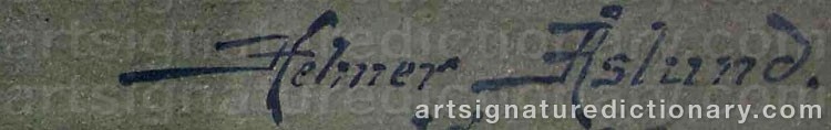 Signature by Helmer OSSLUND