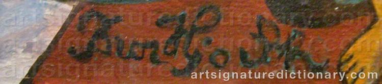 Signature by Bror HJORTH