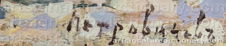 Signature by Piotr Ivanovich PETROVICHEV