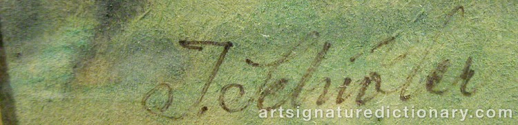 Forged signature of Inge SCHIÖLER