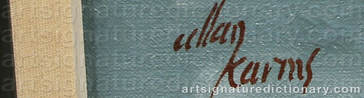 Signature by Allan KARMS