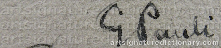 Signature by Georg PAULI