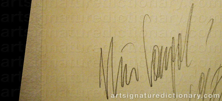 Signature by Nino LONGOBARDI