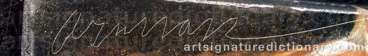 Forged signature of Fernandez ARMAN