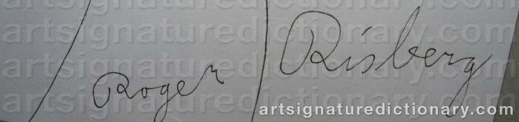 Signature by Roger RISBERG