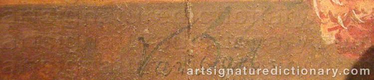Signature by Jan Frans Van DAEL