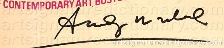 Signature by Andy WARHOL