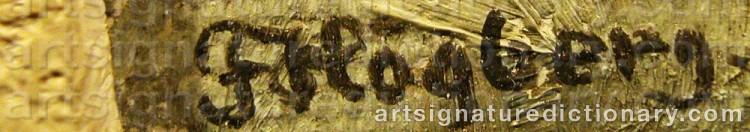 Signature by Fritz HÖGBERG