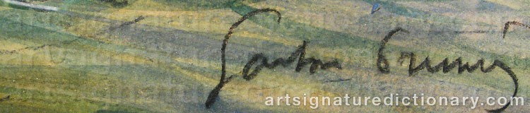 Signature by Gaston PRUNIER