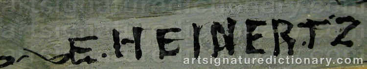 Signature by Erik HEINERTZ