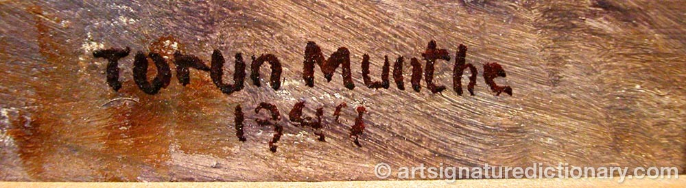 Signature by Torun MUNTHE
