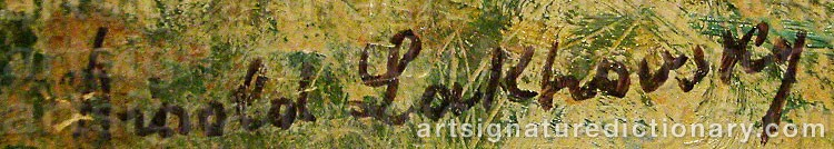 Signature by Arnold Borisovich LAKHOVSKY