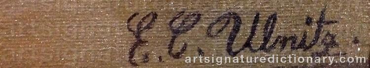 Signature by Emil C. ULNITZ