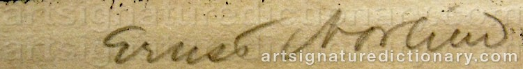 Signature by Ernst NORLIND