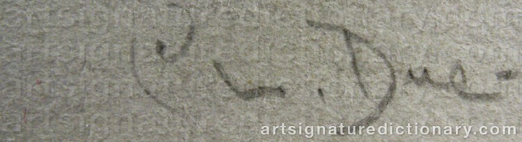 Signature by Christian DUE