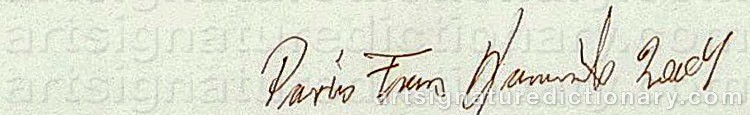 Signature by Frans KANNIK