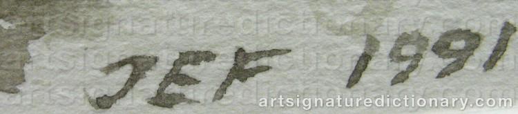 Signature by John-Erik FRANZÉN