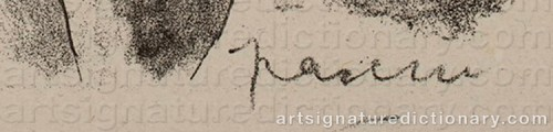 Signature by: PASCIN, Jules