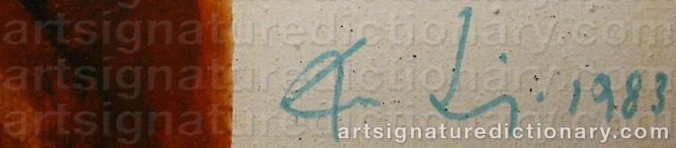 Signature by August PUIG