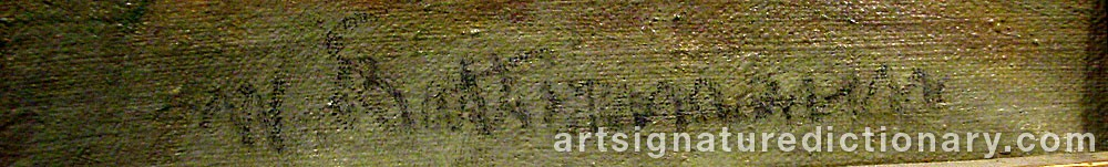 Signature by Wilhelm Jakob BATTERMANN