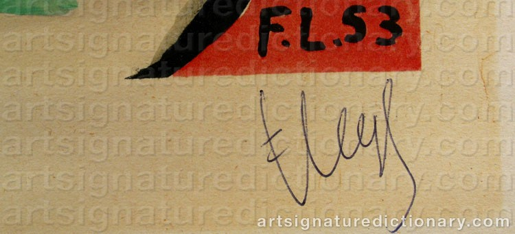 Signature by Fernand LEGÉR