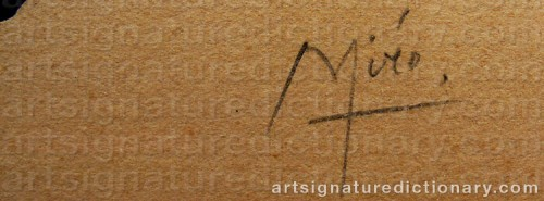 Signature by: MIRO, Joan