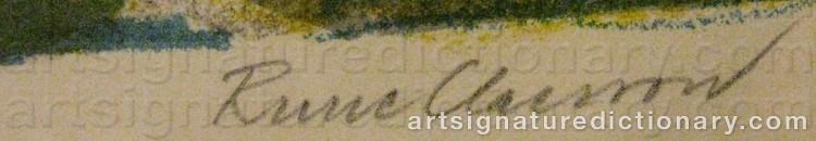 Signature by Rune CLAESSON