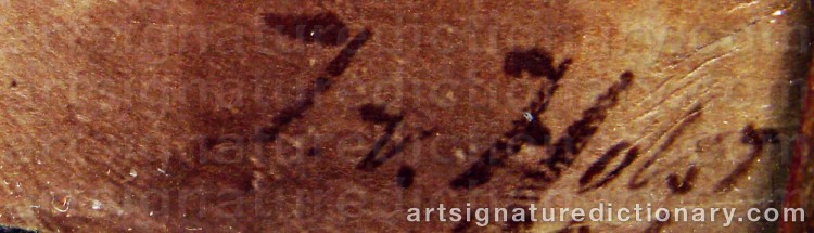 Signature by Johan Von HOLST