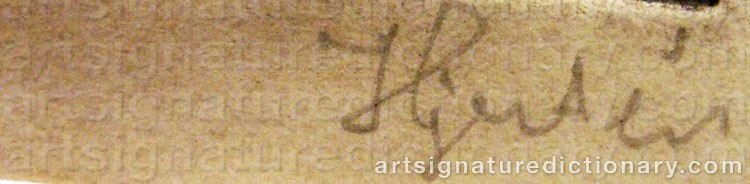 Signature by Sigrid HJERTÉN