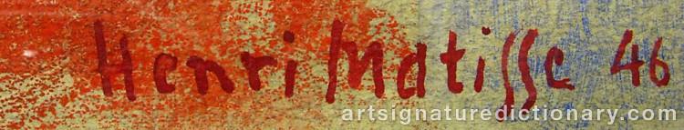 Forged signature of Henri MATISSE