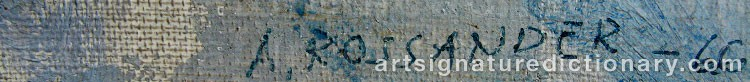 Signature by Armand ROSSANDER