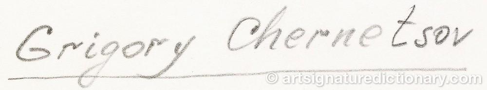 Signature by Grigorii Grigorievich CHERNETSOV