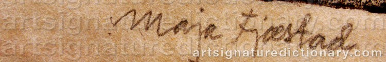 Signature by Maja FJÆSTAD