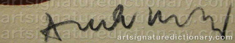 Signature by Pierre ALECHINSKY