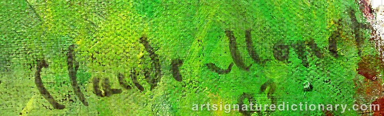 Forged signature of Claude MONET
