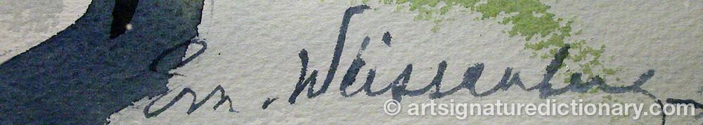 Signature by Eva Von WEISSENBERG
