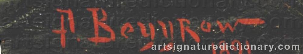 Signature by Alexander Karlovich BEGGROV