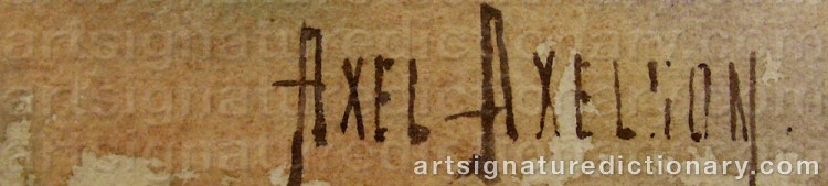 Signature by Axel AXELSON