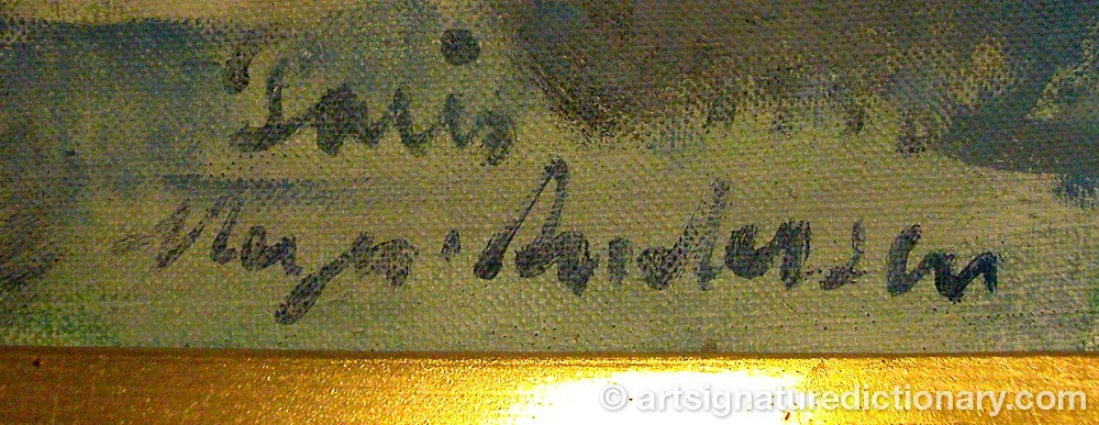 Signature by Maria Sigrid 'Maja' WIRDE