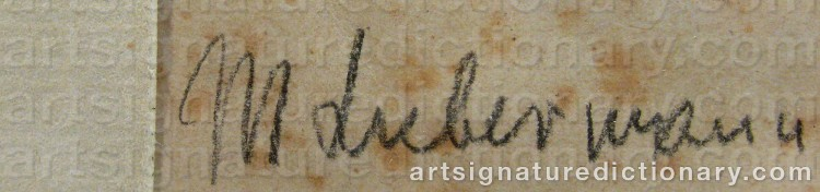 Forged signature of Max LIEBERMANN