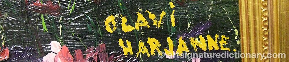 Signature by Olavi HARJANNE
