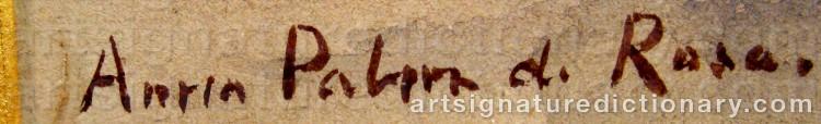 Signature by Anna PALM DE ROSA