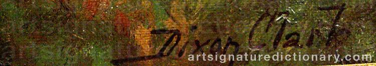 Signature by Joseph Dixon CLARK