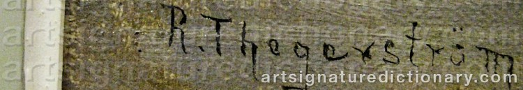 Signature by Robert THEGERSTRÖM