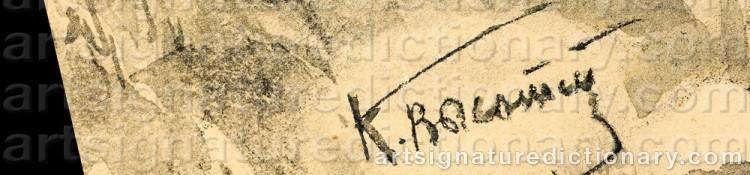 Signature by Konstantin Semionovich VYSOTSKY