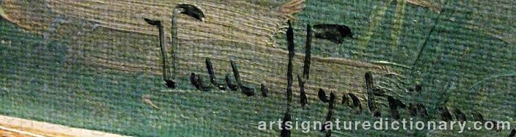 Signature by Valdemar NYSTRÖM